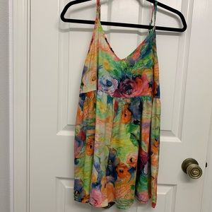 LF Stores Bright Floral Playsuit Romper